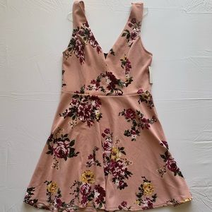 NWT PINK juniors Skater dress with flowers